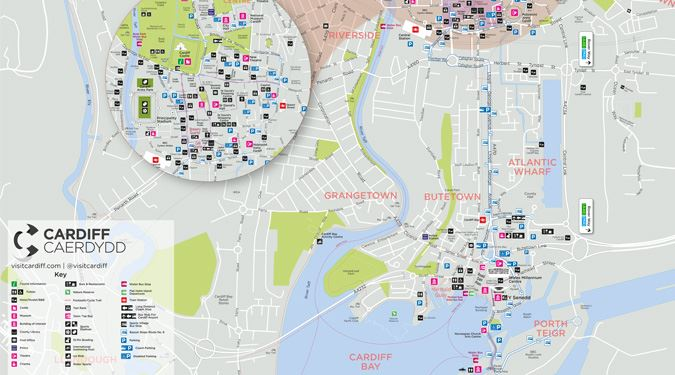 Cardiff Visitor Map