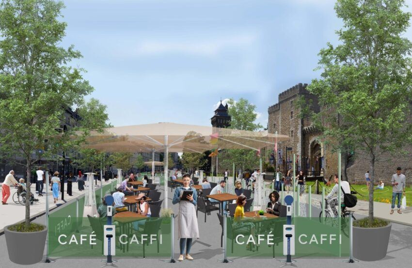 Artist Impression of Castle Street Dining Area