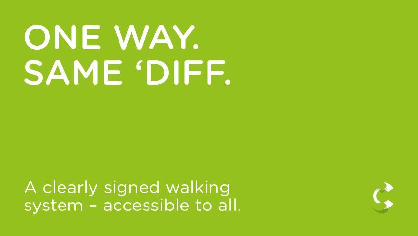 One Way. Same 'Diff.